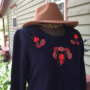 Vintage Susan Bristol Hand embroidered sweater